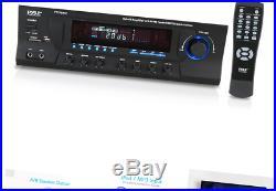 300W Digital Stereo Receiver System AM/FM Qtz. Synthesized Tuner, USB/SD Ca