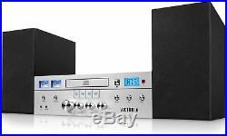 Bluetooth CD Player Shelf Stereo System FM Radio Tuner 20 Watt Speaker Vintage