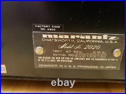 Marantz 2020 AM-FM Stereo tuner- NICE