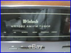 McIntosh Model MR-7082 (7082) AM-FM Stereo Tuner=Nice with Cabinet
