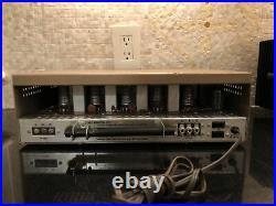 Mint Vintage Lafayette Vacuum Tube AM/FM Radio Stereo Tuner Rare Tuning Eye