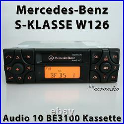 Original Mercedes Audio 10 BE3100 Kassette Becker W126 Radio S-Klasse Autoradio