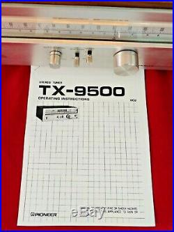 Pioneer TX-9500 Stereo AM/FM Tuner With Manual