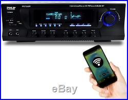 Pyle PT272AUBT 300 Watt Stereo Amplifier Receiver USB/SD, Bluetooth AM-FM Tuner