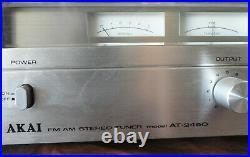 Rare VTG AKAI AT-2450 AM-2450 AM FM Stereo Tuner Amplifier