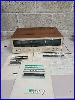 Rare Vintage SANSUI Solid State Eight AM/FM Stereo Tuner Amplifier With Manual