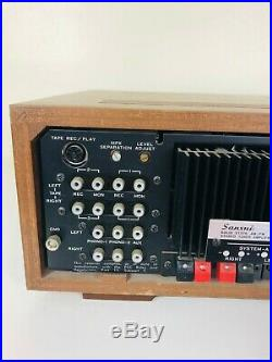 Sansui 5000x Vintage AM/FM Receiver Stereo Tuner Amplifier and 2 Speakers