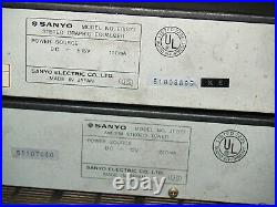 Sanyo Stereo Amplifier Tuner AM FM 80s Spectrum Analyzer Graphic Equalizer JA877