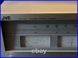 Vintage 1977 JVC JT-V22 Stereo Tuner Radio AM FM Hi-Fi