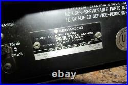 Vintage Kenwood AM-FM Stereo Tuner Model KT-7300