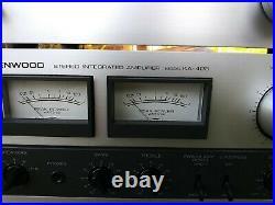 Vintage Kenwood Am-fm Stereo Tuner Model Kt-313 & Ka-405 Amplifier
