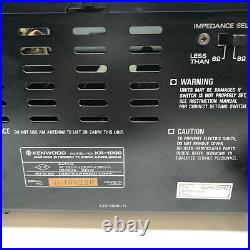 Vintage Kenwood KR-1000 Stereo Receiver / AM/FM Stereo Tuner Amplifier Working