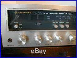 Vintage Kenwood KR-5600 AM/FM Stereo Receiver Tuner Amplifier Tested Works Great