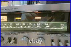 Vintage Kenwood KR-6030 AM FM Stereo Tuner Amplifier Amp Working As Is, Read