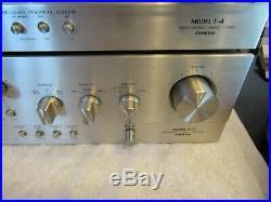 Vintage ONKYO A-5 Integrated Amplifier & T-4 AM FM Servo Locked Stereo Tuner