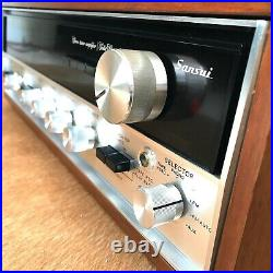 Vintage Sansui 5000A AM/FM Stereo Tuner Amplifier Wood Case-Tested/Working