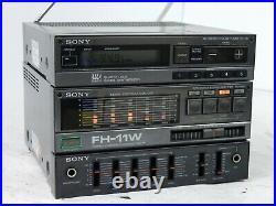 Vintage Sony FH-11W Micro System Stereo Amplifier Tuner TA-118W ST-118 Funct