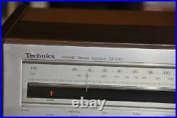 Vintage Stereo Receiver Amplifier Technics SA-202 AM/FM Tuner Aux Phono Works