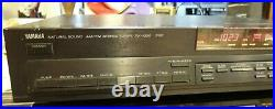 YAMAHA Natural Sound AM/FM Stereo Tuner TX 1000 RS Tuning System Tested